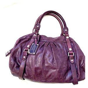 Marc by Marc Jacobs plum leather handbag